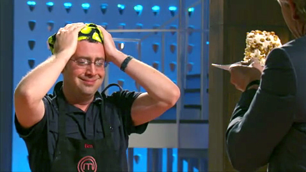 "Ben nearly faints after Gordon Ramsay says ""Ben Starr has arrived."""
