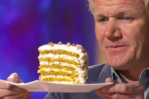 Gordon Ramsay praises Ben Starr's cake on MasterChef season 2