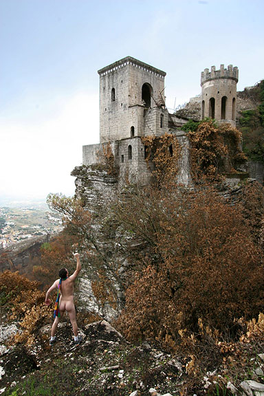 My Butt and My Scarf, Erice, Sicily