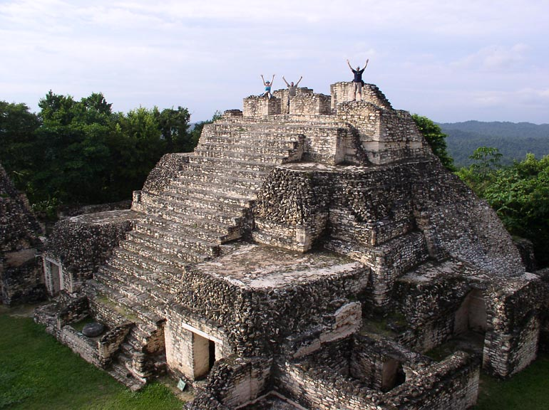 The top pyramid of the Caana Temple in Caracol