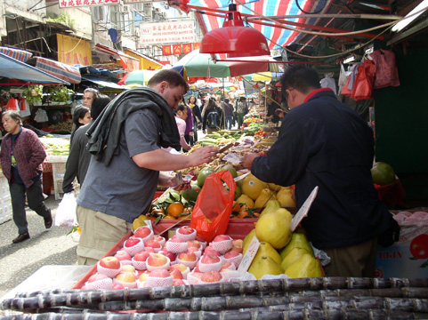 Hong Kong fruit market