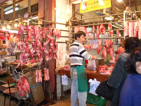 Hong Kong meat market