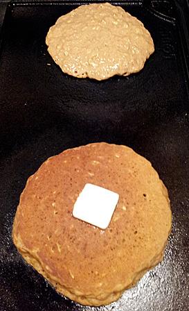 Oatmeal Sweet Potato Pancakes