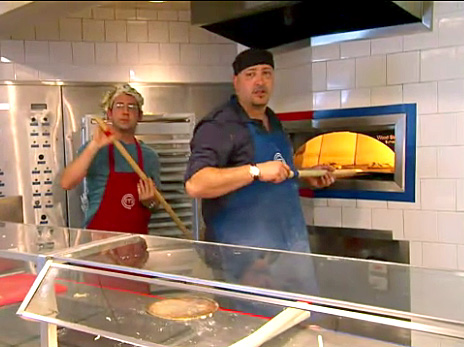 Ben Starr and Giuseppe Morisco battle pizza on MasterChef
