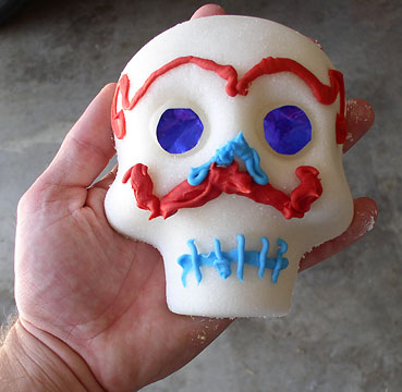 Calaveras, or Mexican sugar skulls for El Dia de los Muertos, WITHOUT meringue powder
