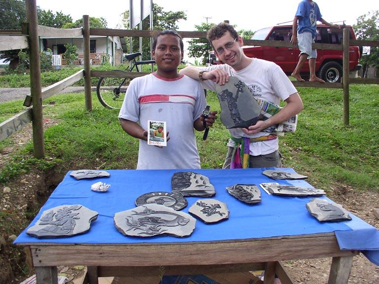 The slate carvers of Xunatunich, Belize