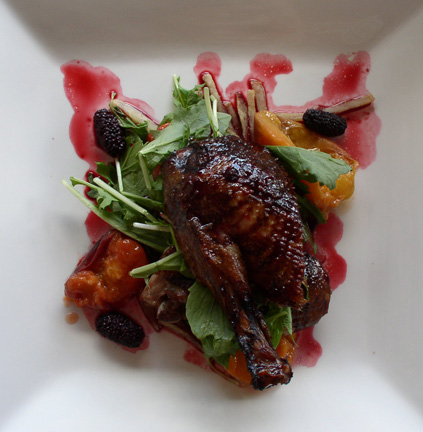 Roast Duck with Shiraz Mulberry Sauce