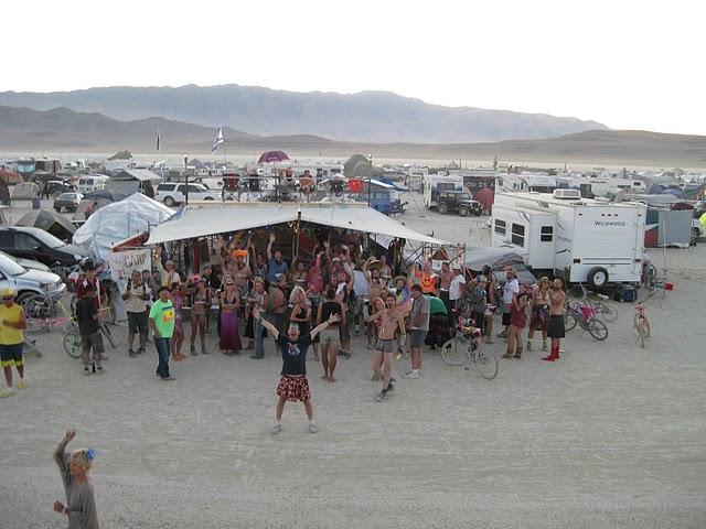 Ben Starr's Camp Potluck at Burning Man 2011